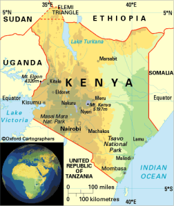map from Commonwealth Secretariat Kenya