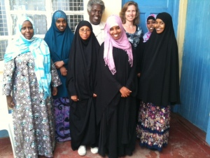 Staff of the counseling services in the Tawakal Medical Clinic with me as their visitor