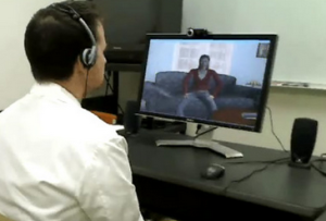 Virtual patient can mimic the symptoms of psychiatric disorder to help therapists in training practice their skills. (Credit photo: Skip Rizzo) From LifeScience, 2013
